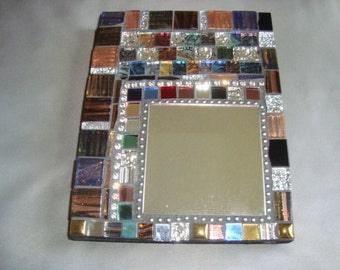 MOSAIC MIRROR, Wall Art, Wall Hanging, Multicolored