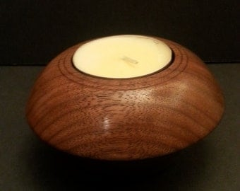 Black Walnut Wood Jumbo Tea Light Candle Holder #2144