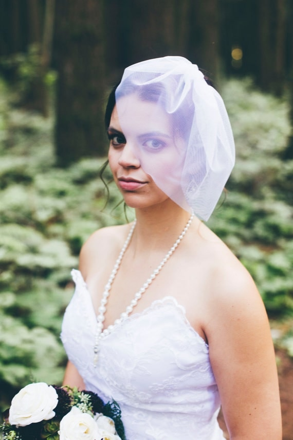 Birdcage Veil, Wedding Veil, English Net, Mini Tulle Veil