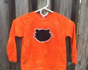 Black Cat Shirt (5/6), Halloween Cat Shirt, Kids Halloween Shirt, Kids Black Cat Shirt, Kids Cat Shirt, Orange Cat Shirt
