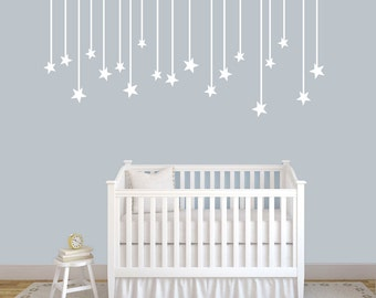 Hanging Stars - Nursery and Kid's Room Shapes Wall Decals