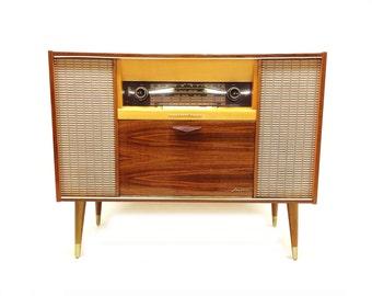 Vintage Grundig Record Console