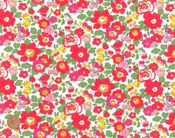 Liberty Tana Lawn Fabric, Liberty of London, Liberty Japan, Betsy Flower, Cotton Floral Print Scrap, Sewing Fabric, Quilt, Patchwork,kt2019s