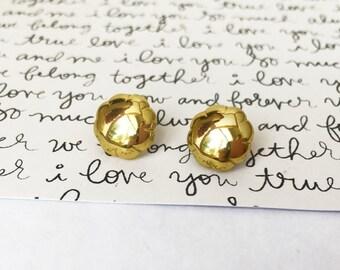 Gold Cloud Earrings, Gold Post Earrings, Golden Cloud Gold Stud Earrings, Small Post Earrings, Cloud Jewelry, Gold Jewelry, Pierced Ears