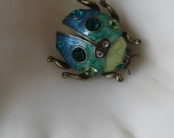 Vintage Bug Brooch,Bugs,June Bug,Insect Brooch,Pin,Beatle Brooch