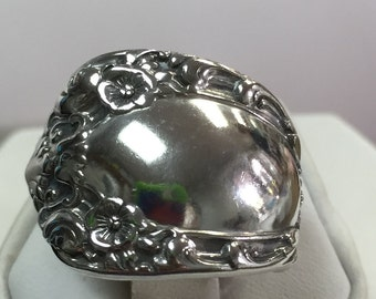 Sterling Silver Hand Formed Spoon Ring Size 7