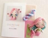 Rainbow - Chibi Mermaid Pattern Kit