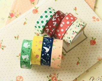 Pattern Days cartoon Washi Masking Tape 2pc set