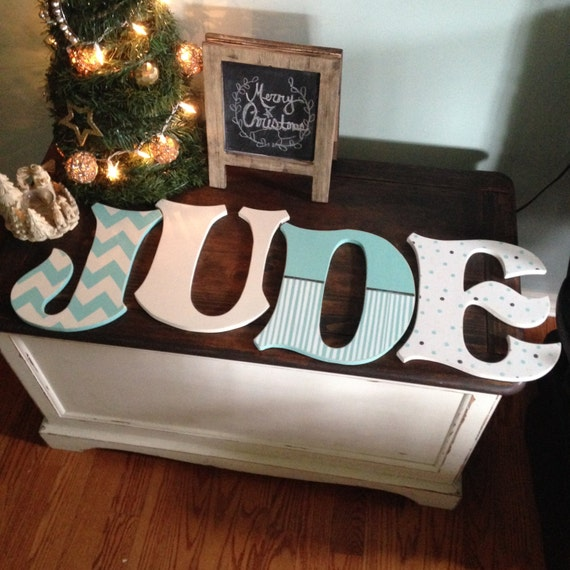 Single painted letter up to 12inches painted and distressed