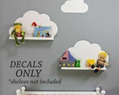 Nursery Cloud Shelf Decals, Vinyl Wall Lettering, Vinyl Wall Decals, Vinyl Lettering, Vinyl Letters, Wall Quotes, Kids Play Room