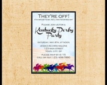 Kentucky Derby Invitations / DIY Printable / Run for the Roses / Horse Race Betting Slips / Churchill Downs Preakness Belmont Stakes /