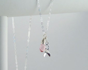 Pink Awareness Necklace Breast Cancer Nursing Mothers