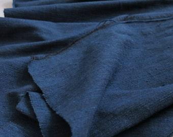 Summer Sale 15% Off - IDHF15 Dark Tone Indigo Fabric - Plain pattern