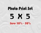 5x5 Prints for IKEA Ribba, Set of 5x5 Prints, 5x5 Photo Set, Save up to 50%