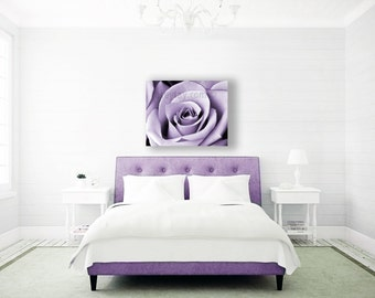 Purple Wall Art, Large Canvas Art, Roses, Mauve, Bedroom Wall Art, Purple Decor, Modern