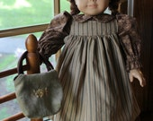 Anne of Green Gables Dress, Pinafore, Hat, and Bag -Ready to Ship