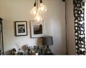 Unique Chandelier PLUG IN Modern Hanging Pendant Lamp Industrial lighting unique ceiling Fixture Antique or LED Bulbs