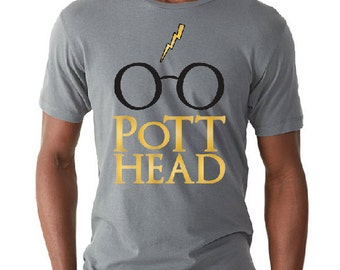 Harry Potter Men's Shirt, The Original Pott Head Design, The Perfect Gift for the Harry Potter Fan in your life