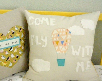 Come Fly With Me Pillow - Pillow Cover - Adventure - Nursery