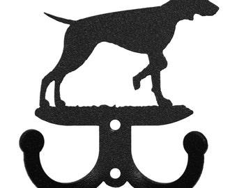 Vizsla Dog 2 Hook Metal Key Chain Holder