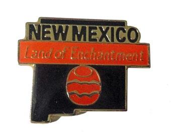 NEW MEXICO Land Of Enchantment STATE vintage enamel pin lapel cloisonne