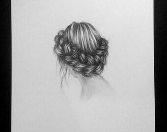 Valentina - Original charcoal drawing - 8X10
