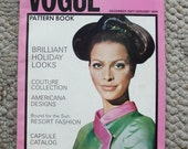 Vintage Vogue Pattern Book Magazine December 1967/January 1968  88 Fantastic Pages Great Condition