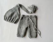 Newborn photo prop, newborn pants, newborn pants set, newborn pants and elf hat, newborn boy, newborn girl, newborn props, knit pants