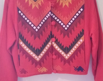 Guaremala Hand Made Lined Jacket Size Small