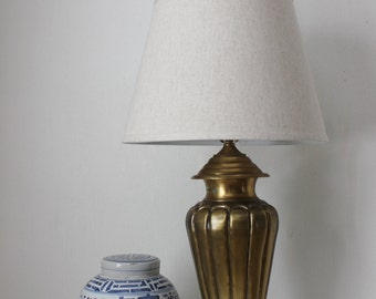 Brass Fluted and Tapered Lamp
