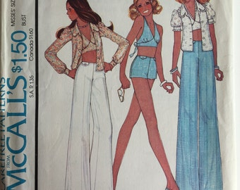 McCalls 4426 Blouse, Halter, Pants sewing pattern size 12