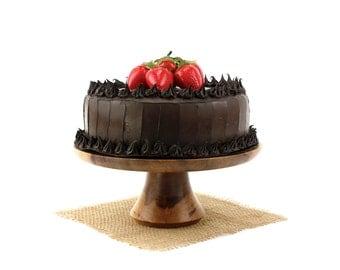 Sweet Gum Cake Stand, Wood Cake Platter, Cake Pedestal, Groom's Cake Stand Wedding Cake Stand, Cupcake Stand, Dessert Pedestal, Hostess Gift