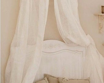 Shabby chic crib CANOPY AND DRAPERIES