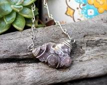 Spirit Quartz Necklace - Raw Stone Jewelry - Cactus Quartz Jewelry - Fairy Quartz Necklace - Gypsy Boho Jewelry - Gypsy Bohemian Necklace