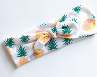 Top knot headband Pineapple Print