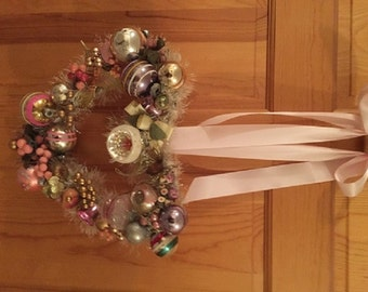 Vintage Heart Ornament Wreath Valentine's Day 1940s-1960s Vintage Materials