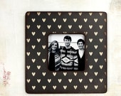 Instagram Frame, Black and white Hearts Picture Frame,  Photo Frame, Picture Frames, Heart, Valentine's Day Decor,  Unique Frames, decor