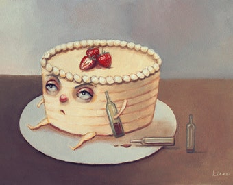 Rum Cake. Signed Print of an Original Oil Painting