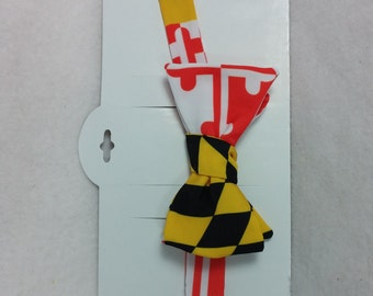 Bow Tie FREE SHIPPING(USA) Maryland Flag Silky