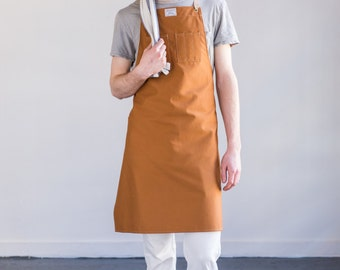 Culinary Apron in Copper Brushed Twill
