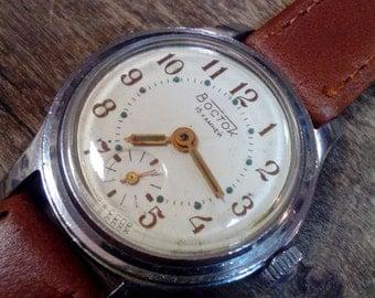 Vintage wrist watch Vostok  ladies watch womens watch, small watch