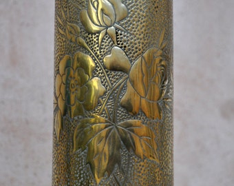 WWI Trench Art Vase - German Cartridge or Shell Case - May 1917