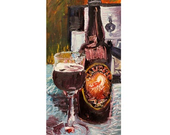 Craft Beer Art Print, Maudite Belgian Dark Ale, Craft Beer Gifts, Canadian Beer Art, Kitchen Wall Art, Bar Beer Art, Man Cave Beer Poster