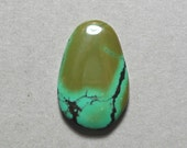 TURQUOISE cabochon blue green oval 17X25mm designer cab