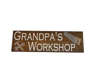 Custom Wood Sign, Grandpa Sign, Grandparent gift, Grandpa's Workshop, Personalized Gift, Custom Wooden Sign, grandad
