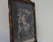 Antique Mary Magdalene Framed Print, Circa 1880, Magdalena, Magdalen Print in Ornate Art Nouveau Frame