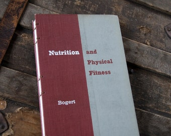 1960 NUTRITION and FITNESS Vintage Notebook