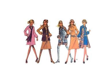 Vintage 70's Mod Dress Pattern, Retro Vest Pattern, Misses size 14, Vintage McCall's 2500, Retro Dress, Vintage Fashion, Sewing Pattern