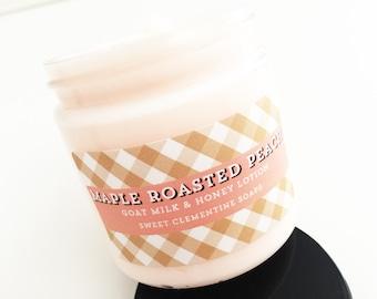 Maple Peach Lotion, Hand Lotion, Body Lotion, Goat Milk Lotion, Body Cream, Hand Cream, Maple Syrup, Peach, Cardamom
