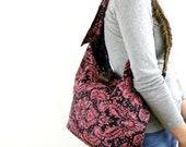 Crossbody Hobo Bag - Pink Crossbody Bag - Hobo Bag - Slouchy Hobo Bag - Over Body Bag - Sling Bag - Bohemian Bag - Over Shoulder Bag